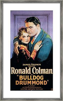 Bulldog Drummond, Joan Bennett, Ronald Framed Print by Everett