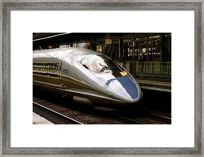Bullet Train Framed Print by Jerry Patterson