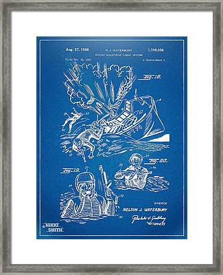 Bulletproof Patent Artwork 1968 Figures 18 To 20 Framed Print by Nikki Marie Smith
