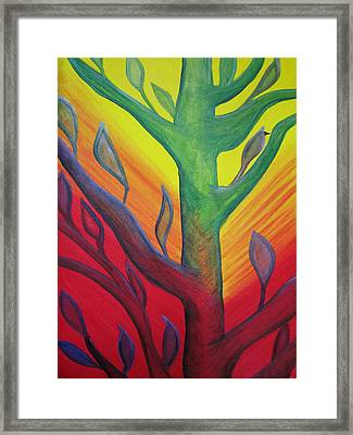 Bumble Bee In A Tree Framed Print