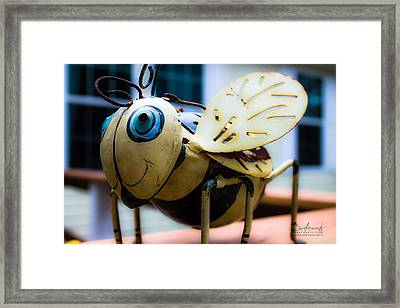 Bumble Bee Of Happiness Metal Sculpture Framed Print