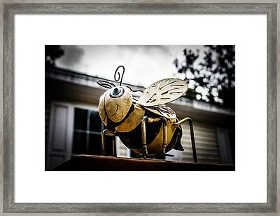 Bumble Bee Of Happiness Metal Statue Framed Print