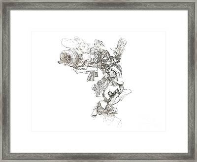 Bumblebee Framed Print by Hywel Morgan