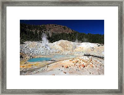 Bumpass Hell Landscape Framed Print