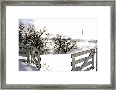 Bunbury's Gates Framed Print by Suzanne Fenster