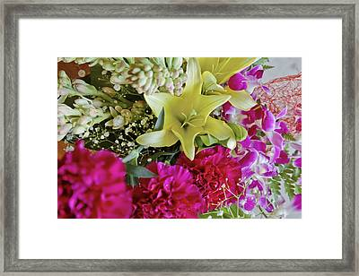 Bunch Of Flowers Happy Framed Print by Kantilal Patel