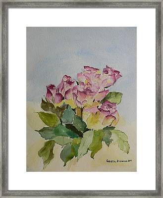 Framed Print featuring the painting Bunch Of Roses by Geeta Biswas