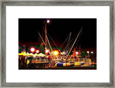 Bungeeland By Night Framed Print