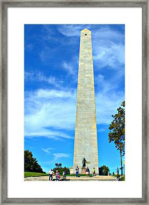 Bunker Hill Monument Framed Print by Bruce Carpenter
