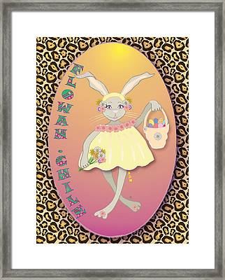 Bunnie Girls- Flowah Chile 1 Of 4  Framed Print