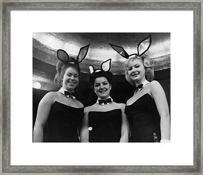 Bunny Girls Framed Print