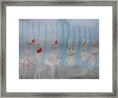 Bunny Hop Ballet Framed Print by Judith Desrosiers