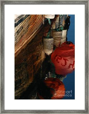 Buoy Reflection I Framed Print