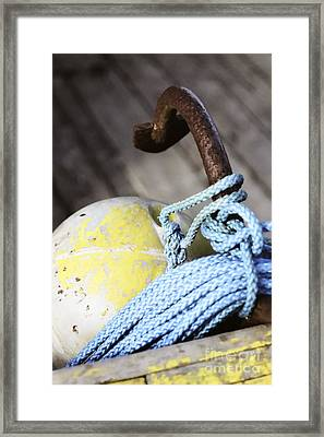 Framed Print featuring the photograph Buoy Rope And Anchor by Agnieszka Kubica