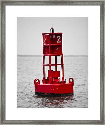 Buoy Two Framed Print by Donni Mac