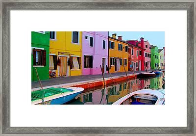 Burano Framed Print by Barbara Walsh