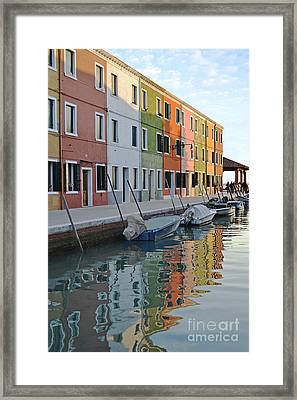 Framed Print featuring the photograph Burano Canal by Rebecca Margraf