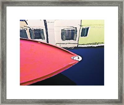 Framed Print featuring the photograph Burano Colorful Art  #1 - Burano Venice Italy Fine Art Photography by Artecco Fine Art Photography