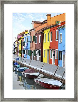 Framed Print featuring the photograph Burano Italy 2 by Rebecca Margraf
