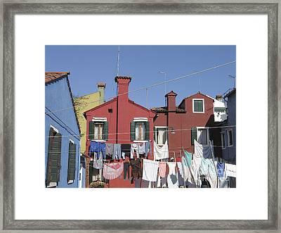 Burano. Venice Framed Print by Bernard Jaubert
