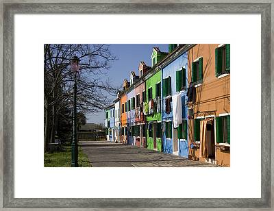 Framed Print featuring the photograph Burano Venice by Raffaella Lunelli