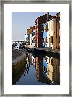 Framed Print featuring the photograph Burano View  by Raffaella Lunelli
