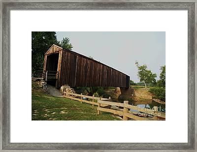 Burford Covered Bridge Framed Print
