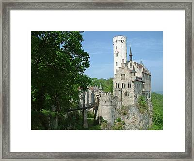 Framed Print featuring the photograph Burg Lichtenstein by Joseph Hendrix
