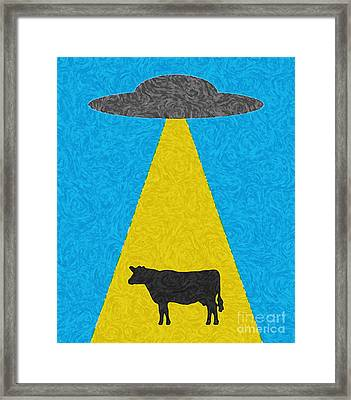 Framed Print featuring the digital art Burger To Go by Tony Cooper