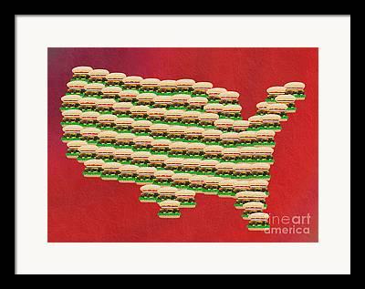 Ketchup Mixed Media Framed Prints