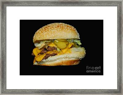 Framed Print featuring the photograph Burgerlicious by Cindy Manero