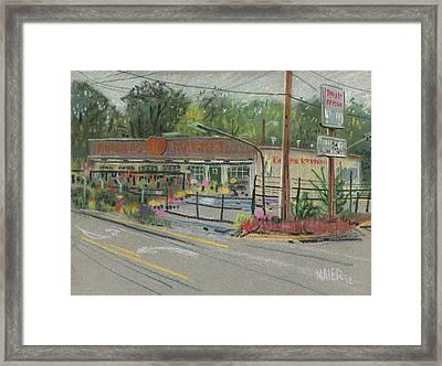 Burger's Market Framed Print