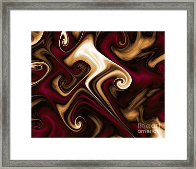 Burgundy Champagne Framed Print by Michelle H