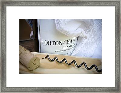 Burgundy Wine Framed Print