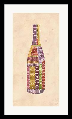 Winery Digital Art Framed Prints