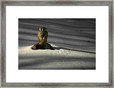 Buried Buddha Framed Print by Christine Gauthier