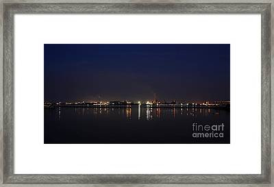 Burlington Lakeshore At Night Framed Print by Inspired Nature Photography Fine Art Photography