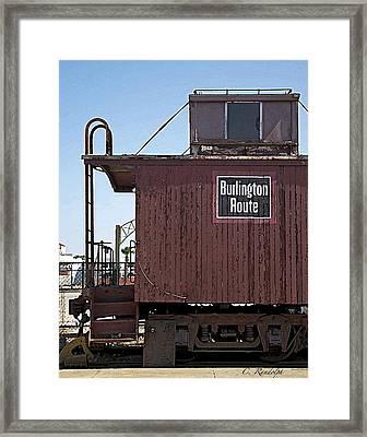 Framed Print featuring the photograph Burlington Route by Cheri Randolph