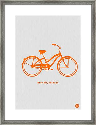 Burn Fat Not Fuel Framed Print
