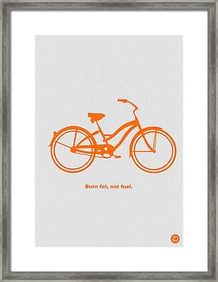Burn Fat Not Fuel Framed Print by Naxart Studio