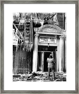Burned Out Nation Of Islam Mosque No. 7 Framed Print by Everett