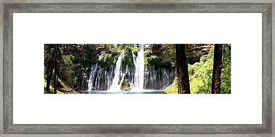 Burney Falls Panorama Framed Print by Michael Courtney