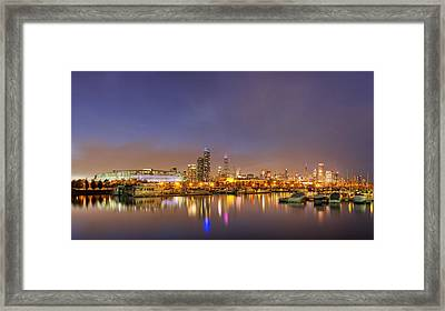 Burnham Harbor And Downtown Chicago Framed Print