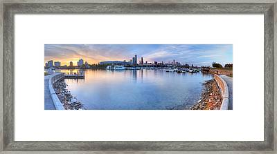 Burnham Harbor Framed Print