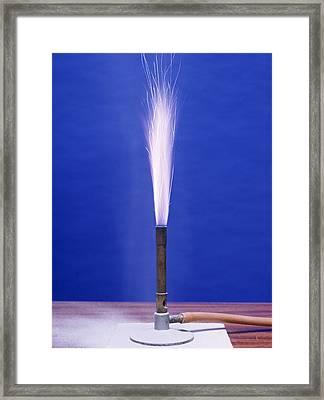 Burning Aluminium Framed Print by Andrew Lambert Photography