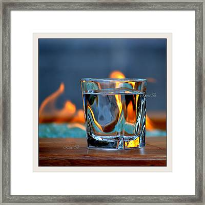 Framed Print featuring the photograph Burning Bliss by Rima Biswas