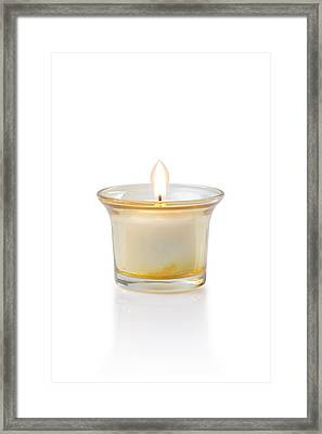 Burning Candle Framed Print