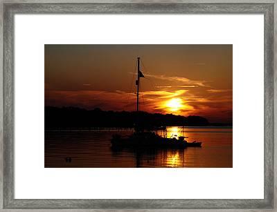 Burning Daylight Framed Print by Tiffney Heaning