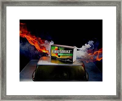Burning For You Framed Print