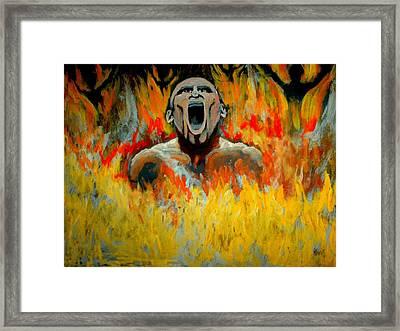 Burning In Hell Framed Print by Anthony Renardo Flake